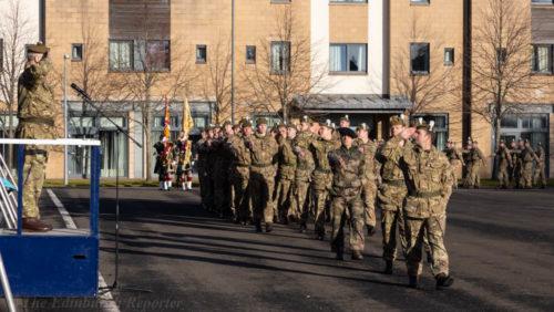 Regiment marches past HRH The Duke of York KG