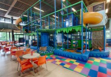A soft play area set up for children