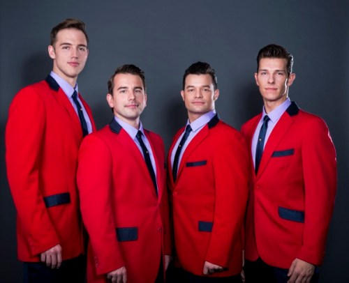 Some of the cast of The Jersey Boys, a musical on at the Edinburgh Playhouse until 2nd March 2019.
