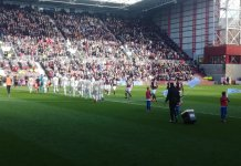 Action from Hearts v Aberdeen at Tynecastle 30th March 2019