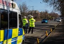 Ploice measuring drivers' speed