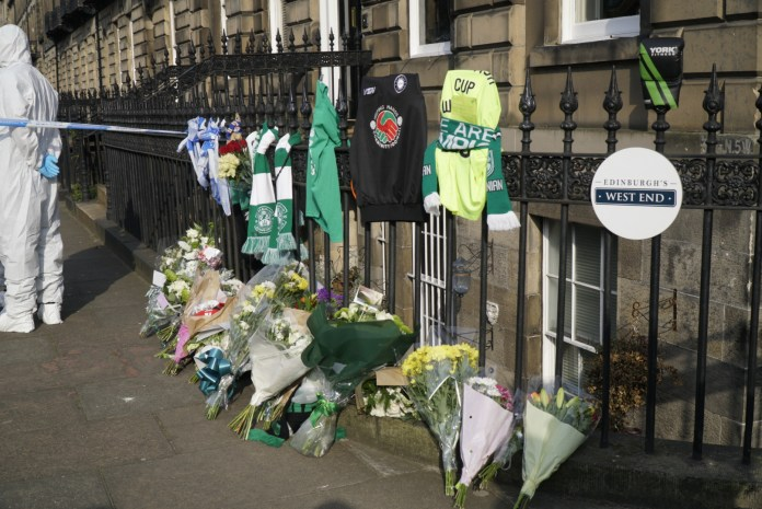 Chester Street floral and boxing tributes left in memory of Bradley Welsh