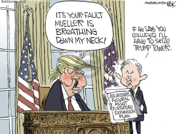 Image result for CARTOONS TRUMP RUSSIA MUELLER