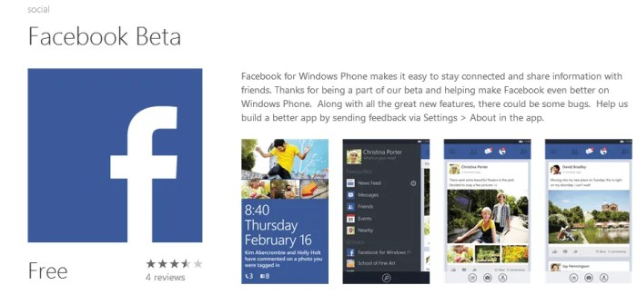 Facebook for Windows Phone 8 Gets a Facelift
