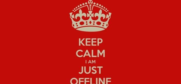 Offline Might Be The Best Down Time