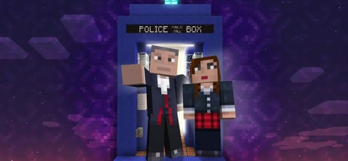 Geronimo's and Bow Ties! Doctor Who comes to Minecraft