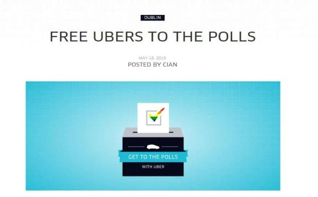 Uber's free poll promotion