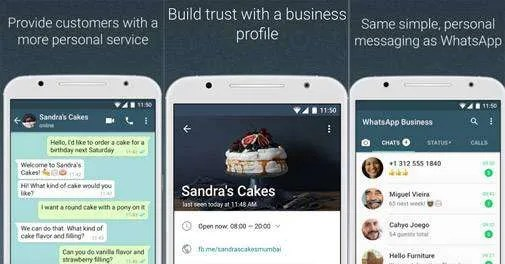 WhatsApp Business App Screen View