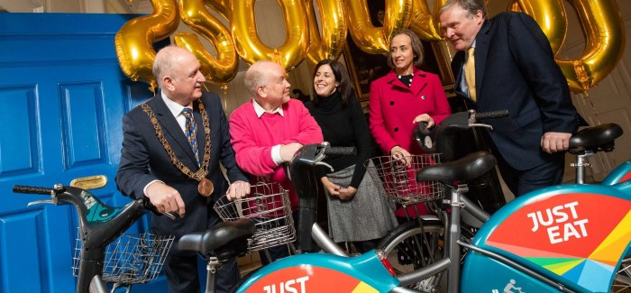 Just Eat giving away €10,000 in gift cards to celebrate 25 million journeys on dublinbikes