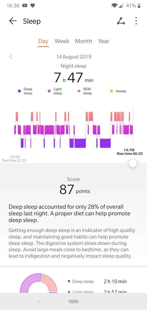 Huawei Watch GT Sleep Monitoring