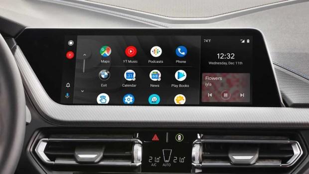 BMW android auto dash