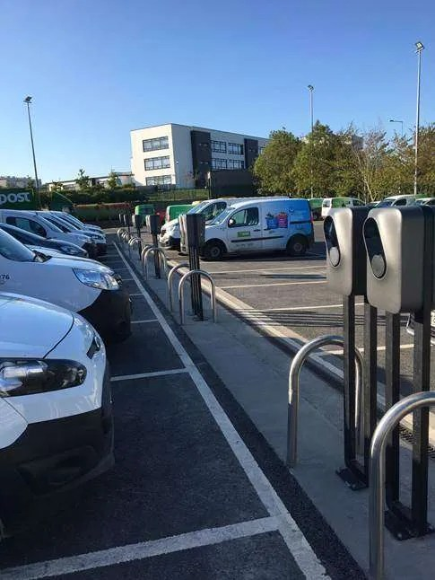 EasyGo Commercial Charging Solution at the An Post depot in Waterford