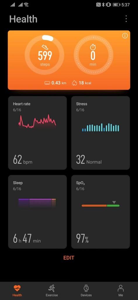 Huawei Watch GT2e Huawei Health App
