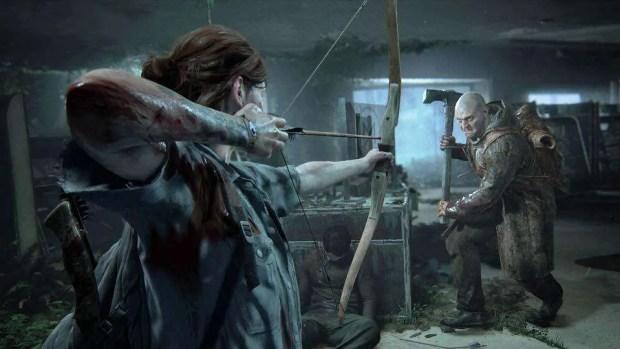 The Last of Us Part II Crossbow combat