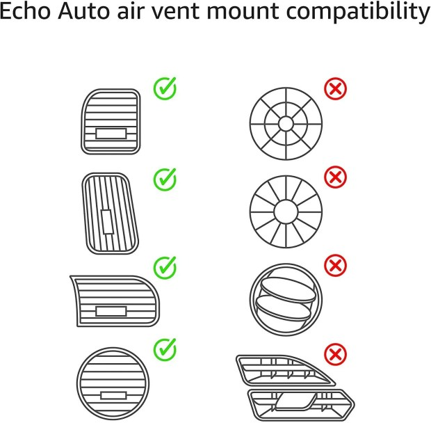 Support Air vents for the Echo Auto