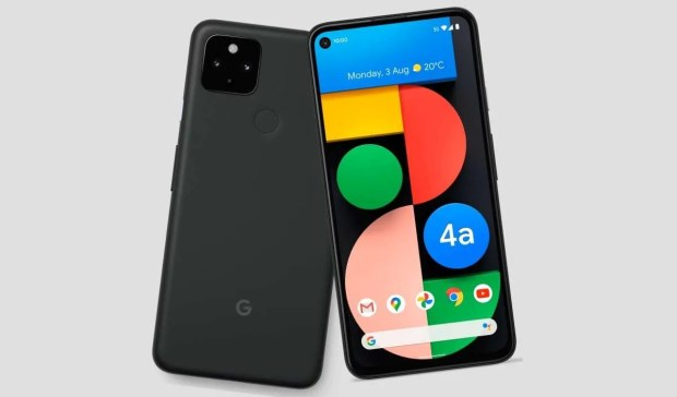 Pixel 4a 5G Front and Back