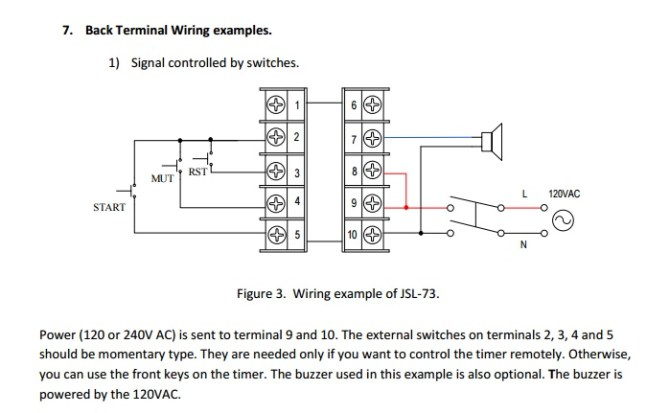 timer and alarm wiring problem