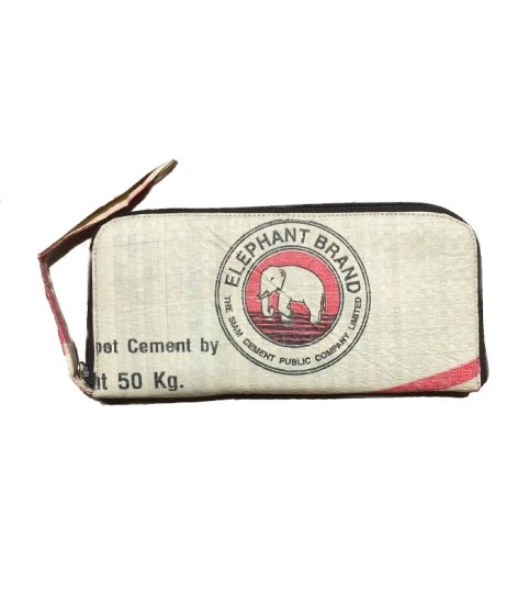 Elephant Brand Recycled Long Clutch Purse with Wrist Strap 3