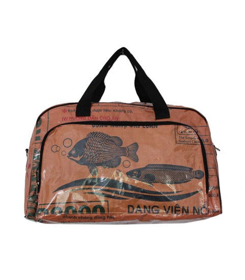 Recycled Fish Feed Extra Large Deluxe Zip Travel Bag 3