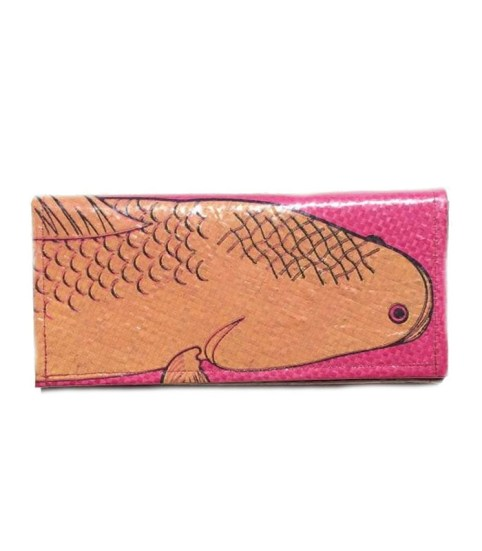 Ladies Recycled Fish Feed Long Wallet 4
