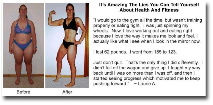 body transformation testimonial laurie