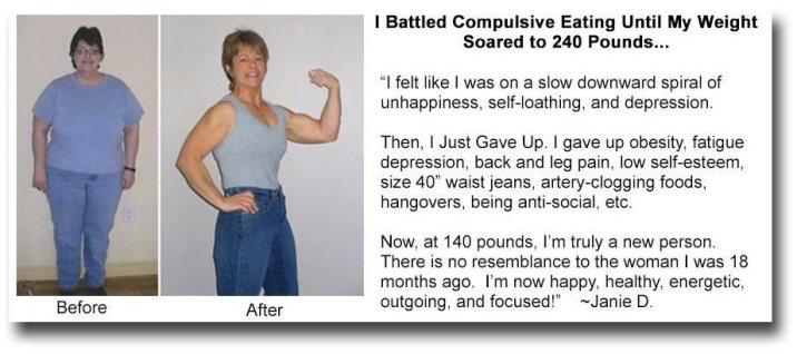 weight loss testimonial janie