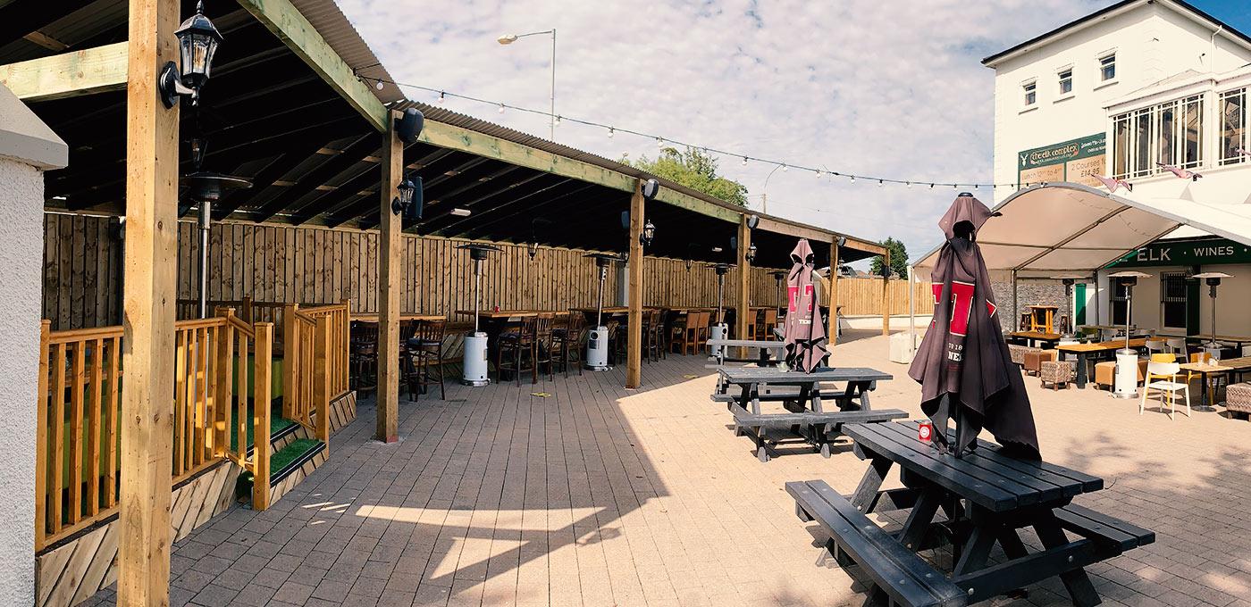 Beer Garden at The Elk Bistro Toomebridge