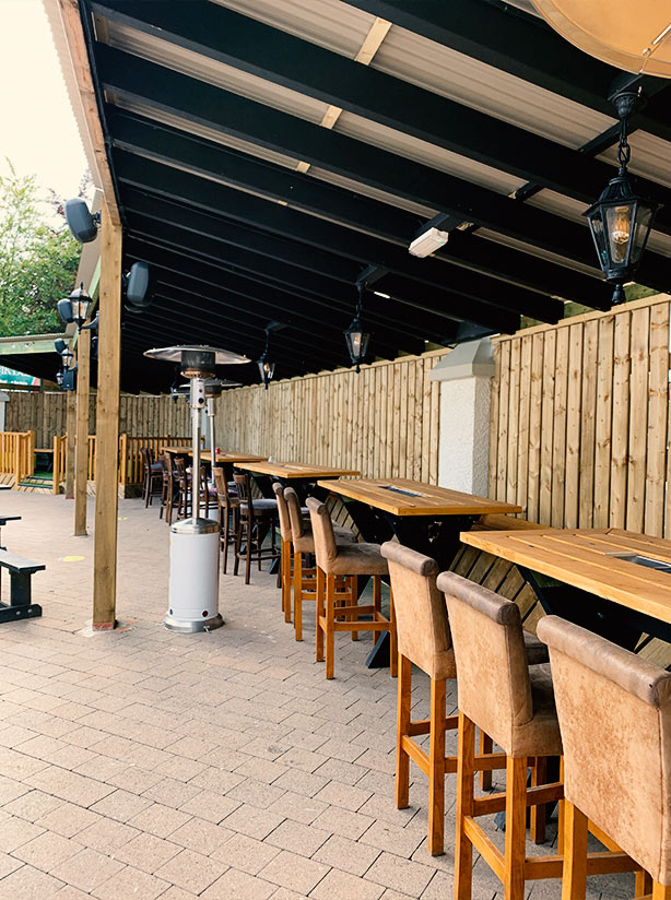 Beer Garden at The Elk Bistro Toomebridge