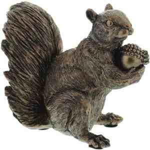 bronze squirrel ornament