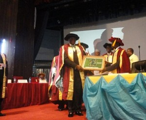 Receiving NAE Fellowship Certificate