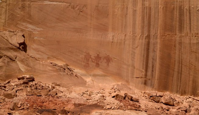 These Fremont Pictographs may have represented deities, or they may have been a warning to travelers.