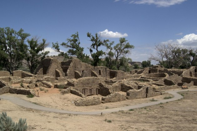 This complex outside of the town of Aztec, New Mexico, was a satellite settlement to the much larger Chaco Canyon urban centers to the south.
