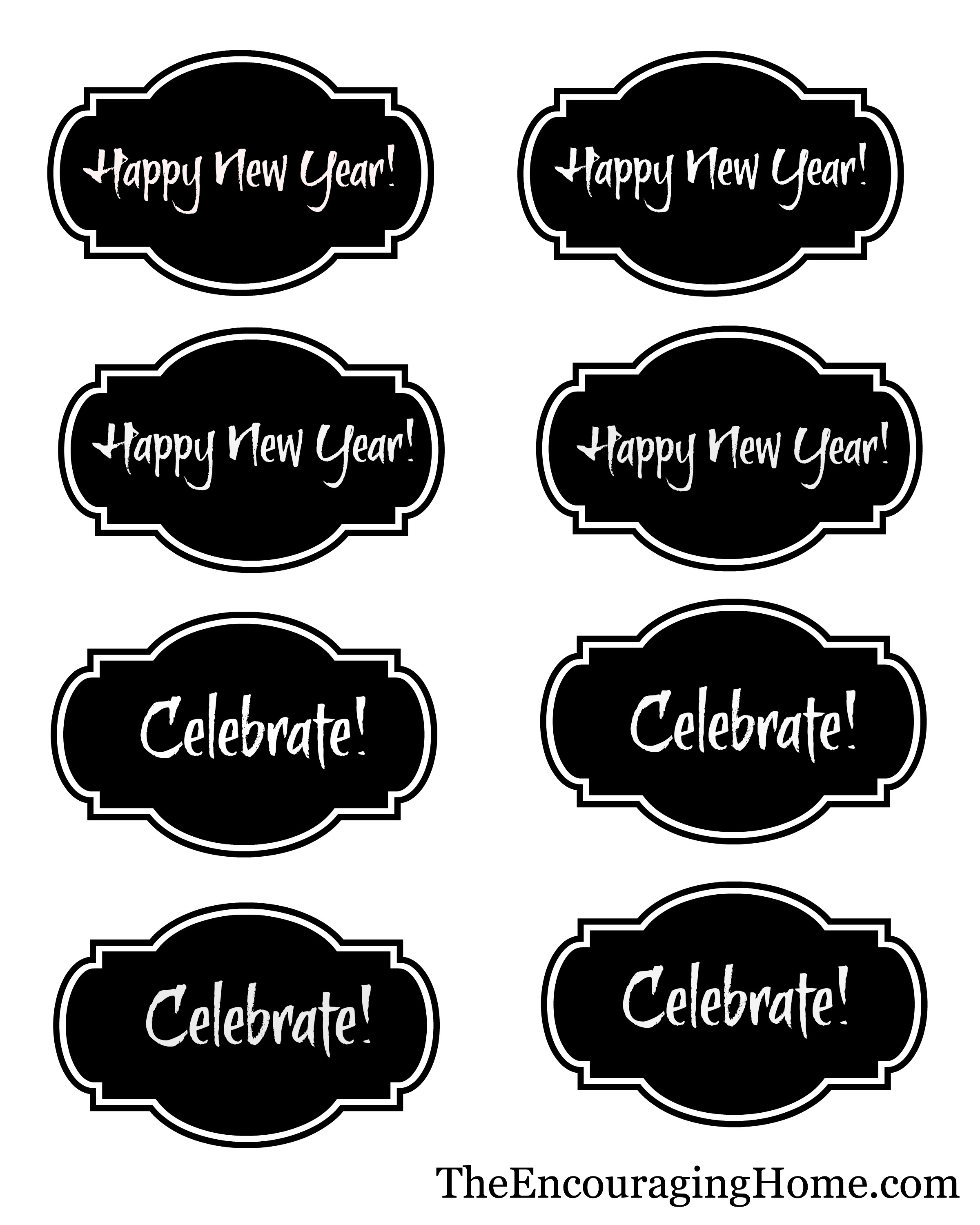 New Year S Eve Fun Free Printables