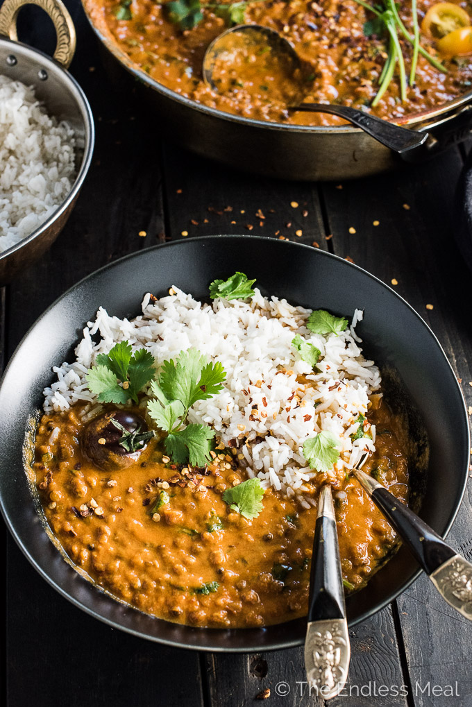 Creamy Coconut Lentil Curry | vegan recipes for beginners