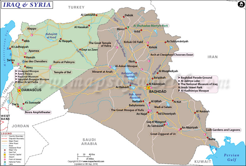 iraq syria map