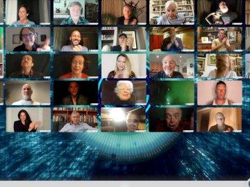 X-files cast reunion zoom call
