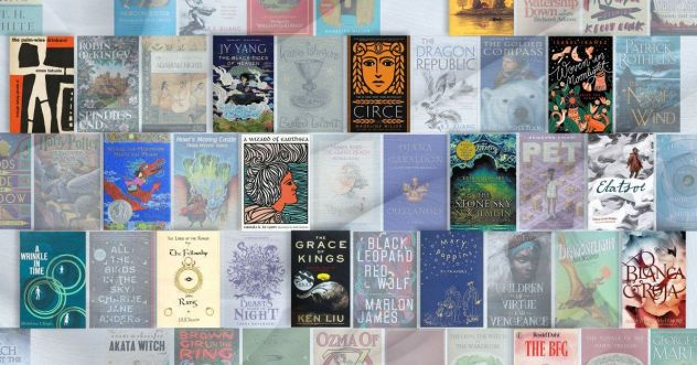 top 100 fantasy books collage