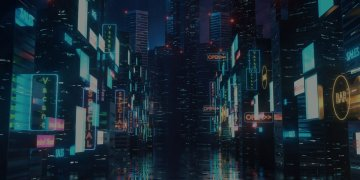 cyperpunk cityscape