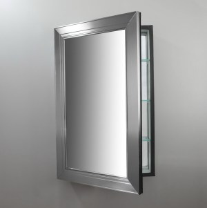 Brushed Nickel Mirror Medicine Cabi | Home Design Ideas