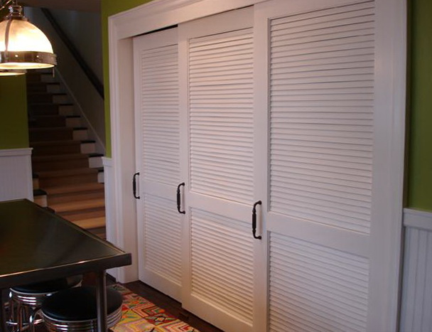Louvered Sliding Closet Doors Home Design Ideas