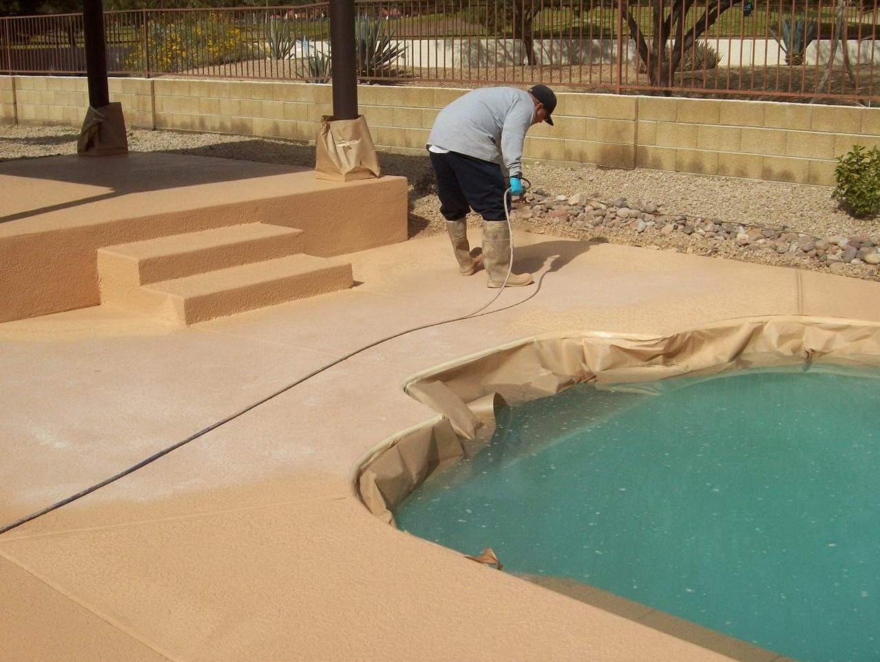 Acrylic Pool Deck Coating Home Design Ideas