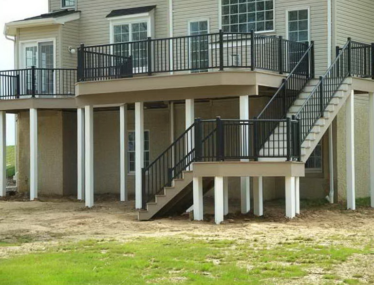 Build Deck Stairs With Landing Home Design Ideas