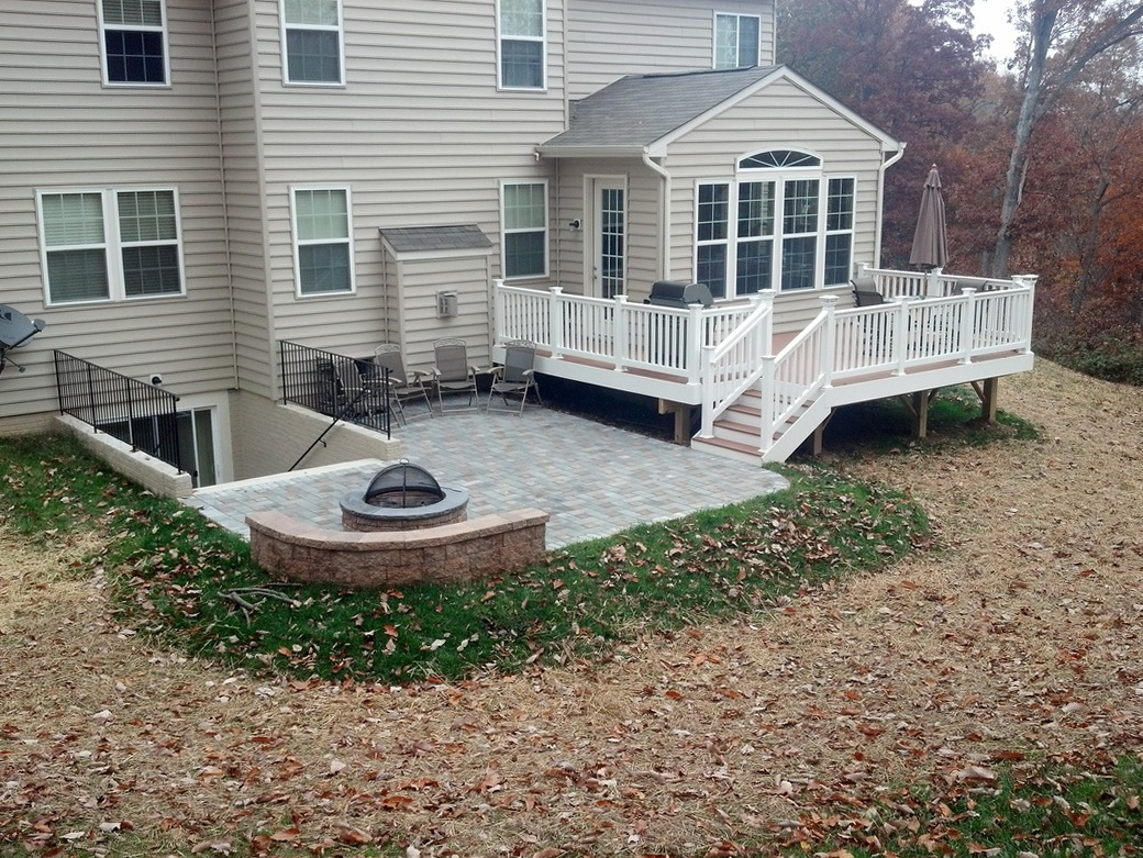 Deck And Patio Combination Home Design Ideas