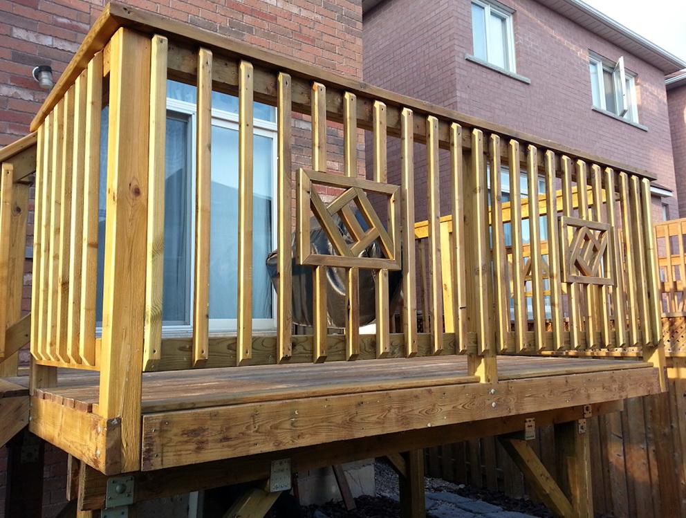 Wood Deck Railing Design Ideas Home Design Ideas