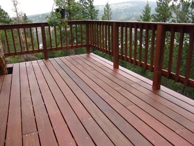 Natural Wood Deck Railings Home Design Ideas
