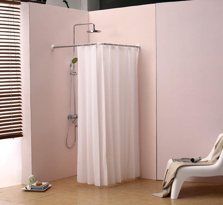 Half Round Shower Curtain Rod Home Design Ideas