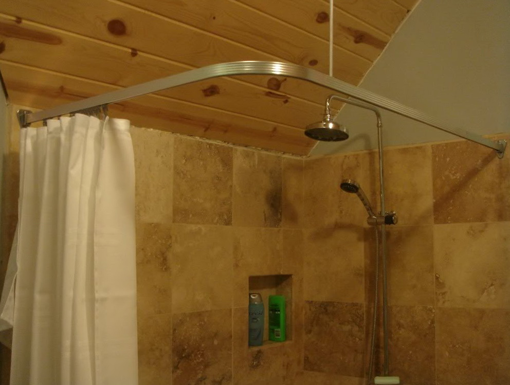 Clawfoot Tub Shower Curtain Rod Ceiling Mount Home