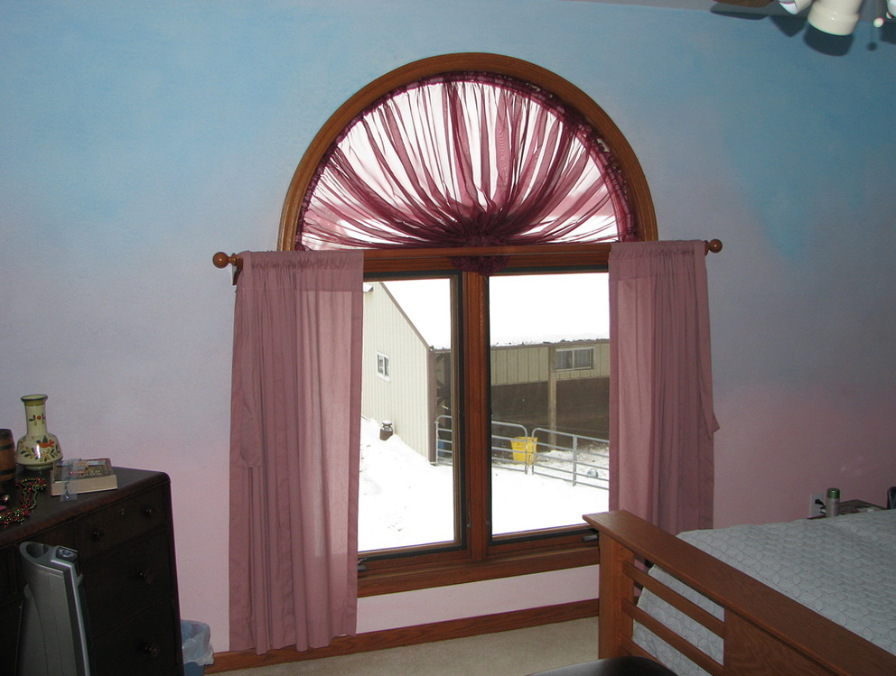 Curtains Over Arched Window Home Design Ideas