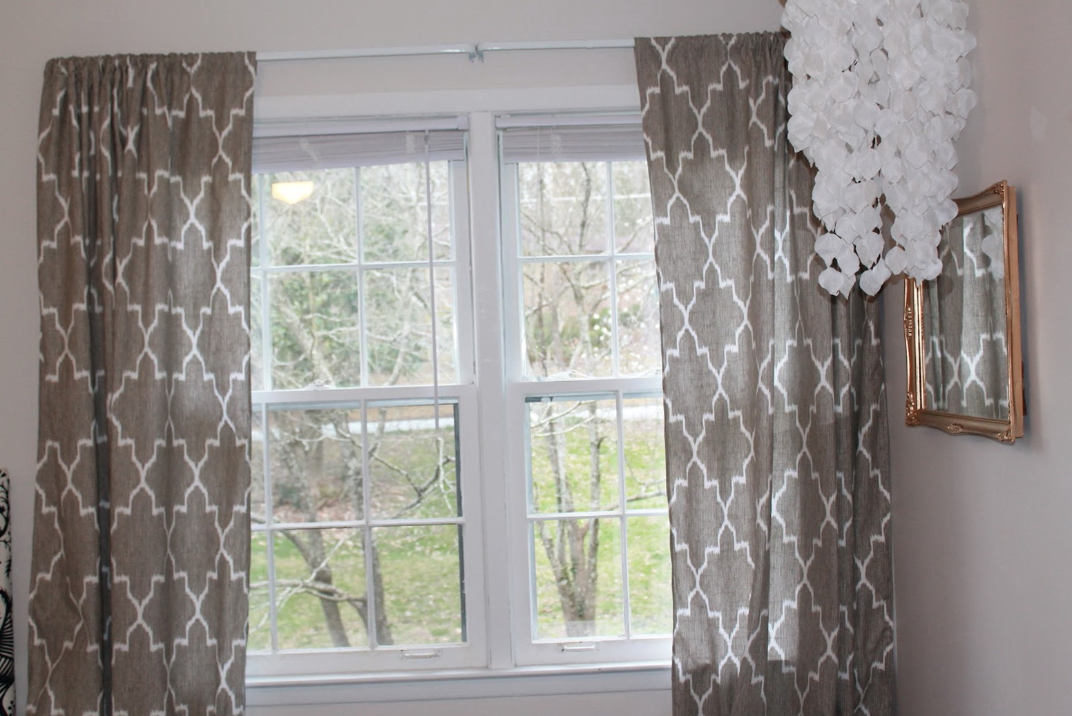 Grey And White Window Curtains Home Design Ideas