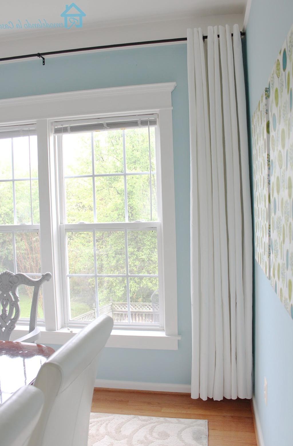 Long Curtains For Short Windows Home Design Ideas